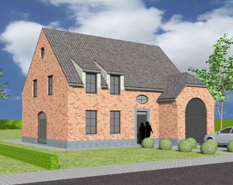 Nieuw te bouwen halfopen woning met vrije keuze van architectuur te Mont-de-l