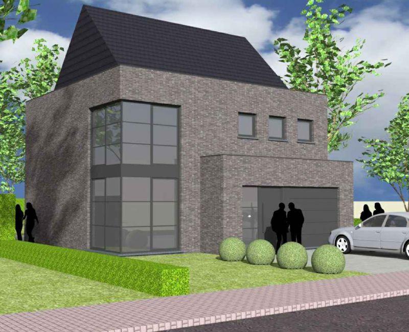 Nieuw te bouwen alleenstaande woning met vrije keuze van architectuur te Brakel.