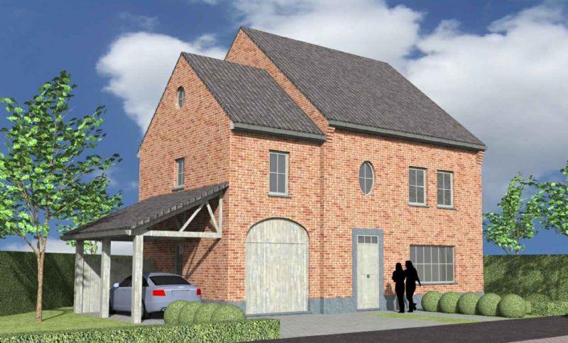 Nieuw te bouwen alleenstaande woning met vrije keuze van architectuur te Erpe-Mere.