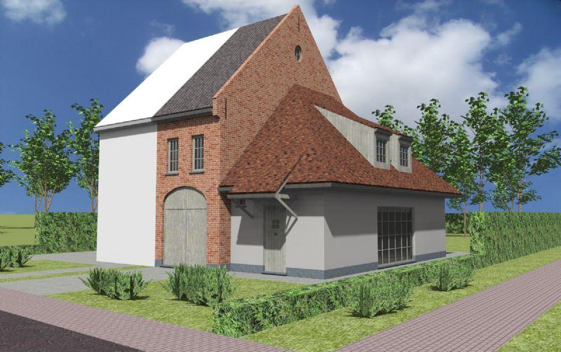 Nieuw te bouwen halfopen woning met vrije keuze van architectuur te Schendelbeke.