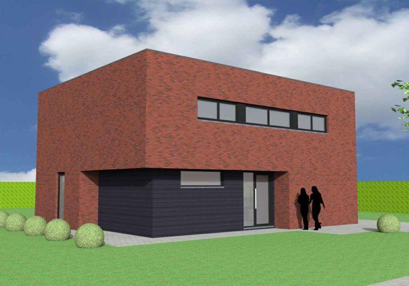 Nieuw te bouwen alleenstaande woning met vrije keuze van architectuur te Torhout.