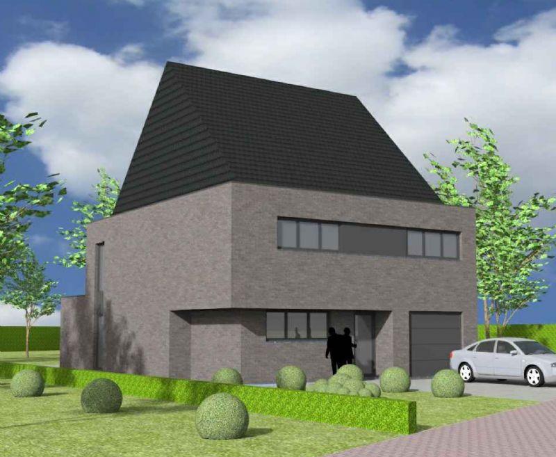 Nieuw te bouwen alleenstaande woning met vrije keuze van architectuur te Zottegem.