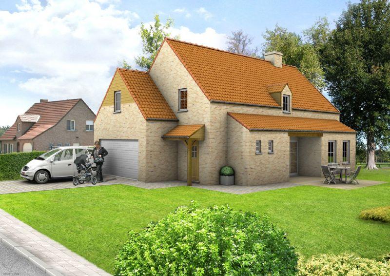 Nieuw te bouwen alleenstaande woning met vrije keuze van architectuur te Lochristi.