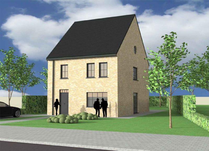 Nieuw te bouwen alleenstaande woning met vrije keuze van architectuur te Oostrozebeke.