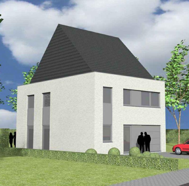 Nieuw te bouwen halfopen woning met vrije keuze van architectuur te Eeklo.