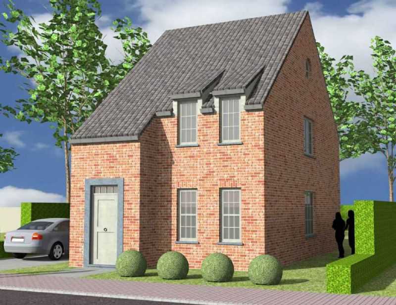 Nieuw te bouwen halfopen woning met vrije keuze van architectuur te Brakel.