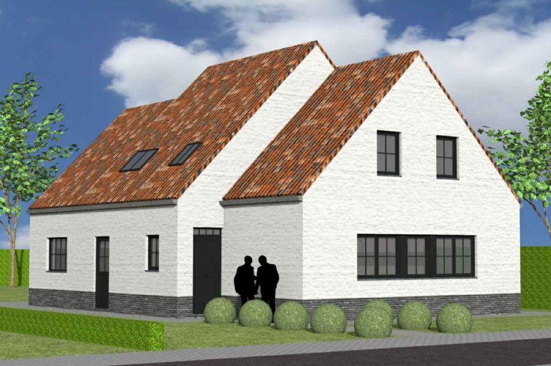 Nieuw te bouwen alleenstaande woning met vrije keuze van architectuur te Ellezelles.