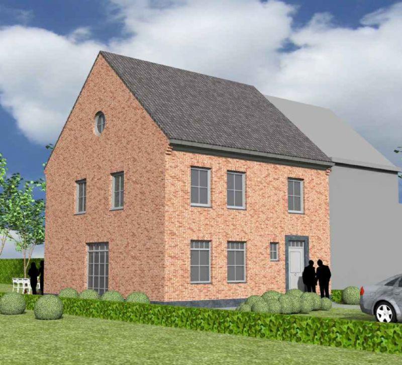 Nieuw te bouwen halfopen woning met vrije keuze van architectuur te Desselgem.