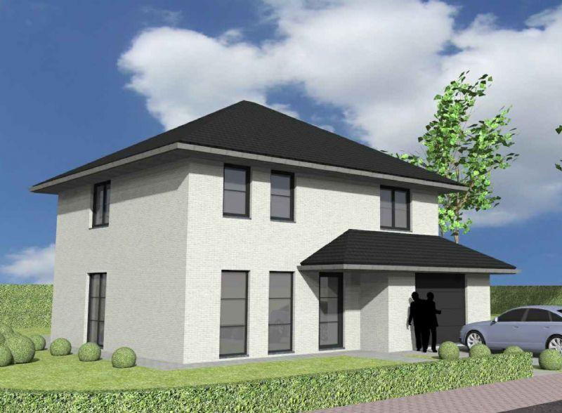 Nieuw te bouwen alleenstaande woning met vrije keuze van architectuur te Oudenaarde.