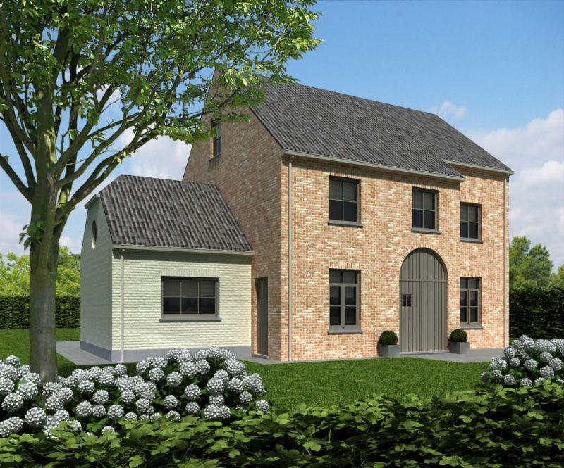 Nieuw te bouwen alleenstaande woning met vrije keuze van architectuur te Dergneau.