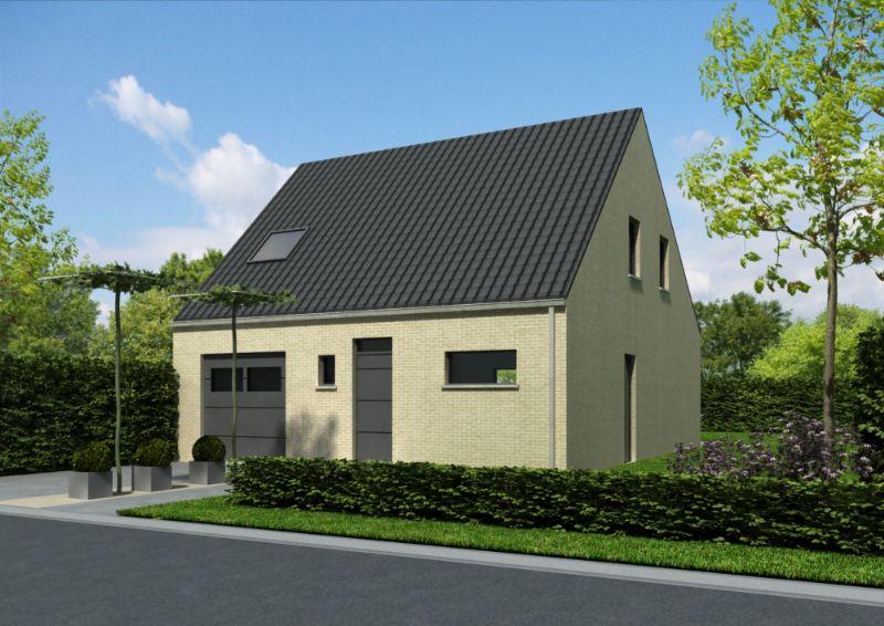 Nieuw te bouwen halfopen woning met vrije keuze van architectuur te Celles.