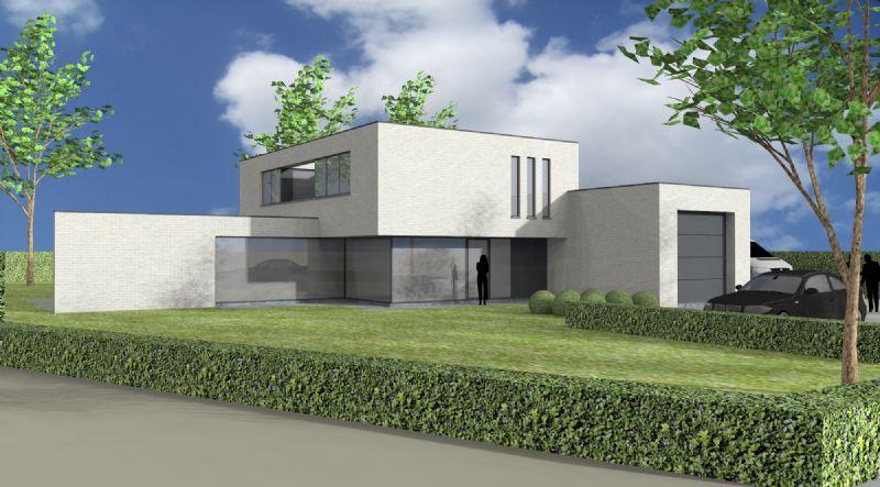 Nieuw te bouwen alleenstaande woning met vrije keuze van architectuur te Rumbeke.