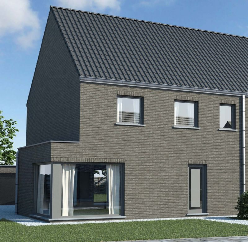 Nieuw te bouwen halfopen woning met vrije keuze van architectuur te Appelterre-Eichem.