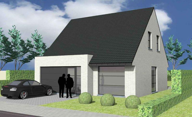 Nieuw te bouwen alleenstaande woning met vrije keuze van architectuur te Westouter.