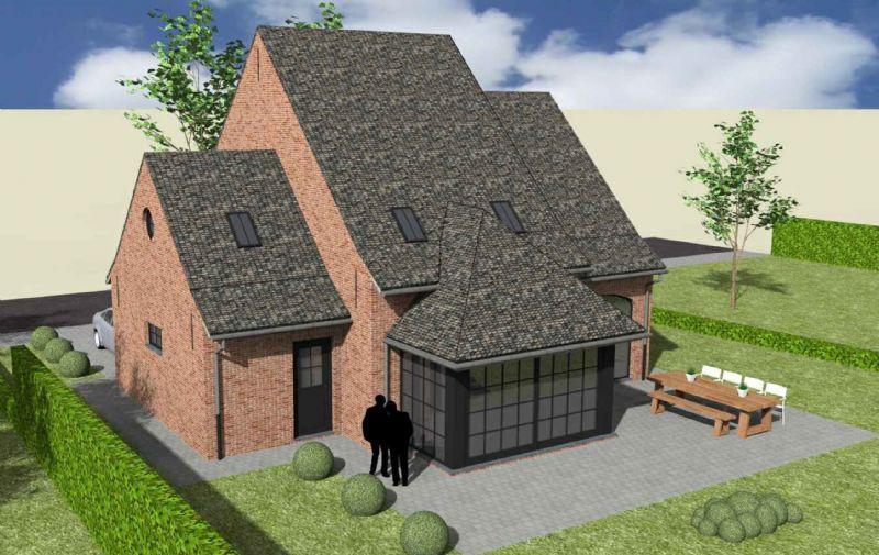 Nieuw te bouwen alleenstaande woning met vrije keuze van architectuur te Anseroeul.