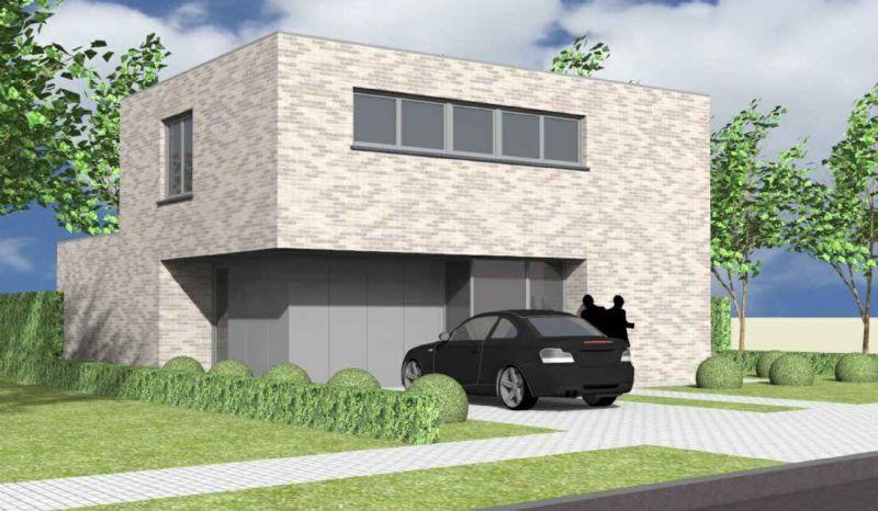 Nieuw te bouwen alleenstaande woning met vrije keuze van architectuur te Melle.