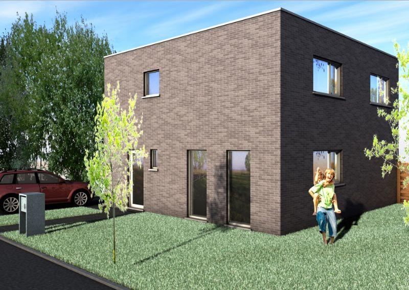Nieuw te bouwen alleenstaande woning met vrije keuze van architectuur te Avelgem.