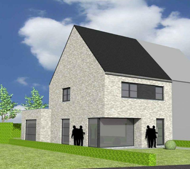 Nieuw te bouwen halfopen woning met vrije keuze van architectuur te Sint-Kruis-Winkel.